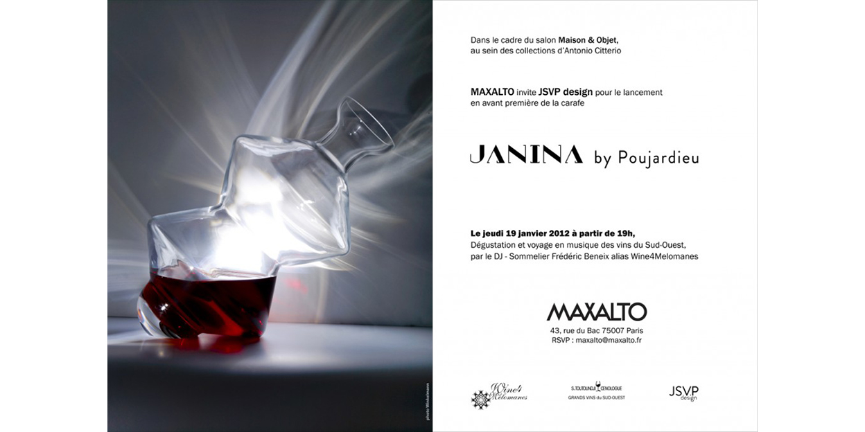 Wine Decanter Janina From Designer V Poujardieu Wine4melomanes English Version